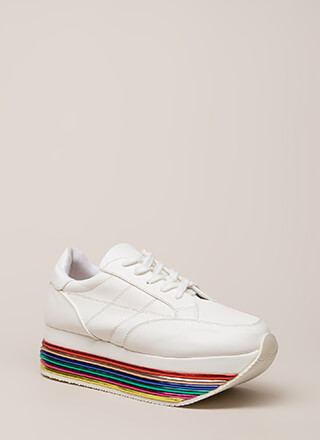 Highline Striped Platform Sneakers