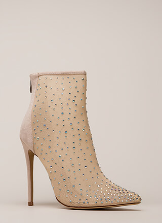 Serious Sparkle Pointy Jeweled Booties
