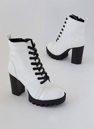 Little Punk Chunky High-Shine Booties