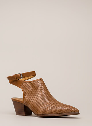 Weave A Tale Backless Block Booties