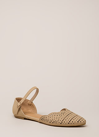Cute Stroll Scalloped Cut-Out Flats