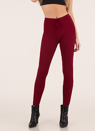 Keep Me Warm Rib Knit Leggings