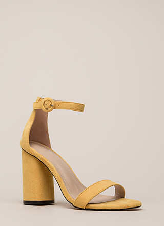 One Fine Day Chunky Ankle Strap Heels