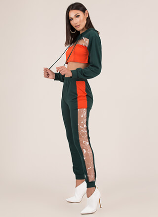 Clear For Takeoff Hoodie And Jogger Set