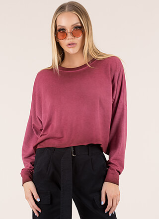Keep Things Casual Oversized Crop Top