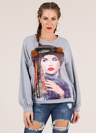 Fur-Ever Fashionista Graphic Sweatshirt