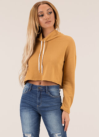 2 Cool Cropped Drawstring Sweatshirt