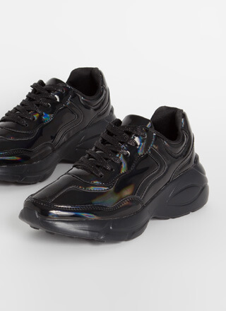 Fun Run Holographic Platform Sneakers