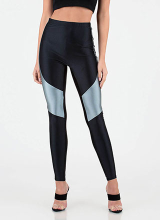 Race Is On Sporty Colorblock Leggings