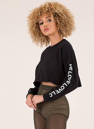 Nothing But Love Cropped Sweatshirt