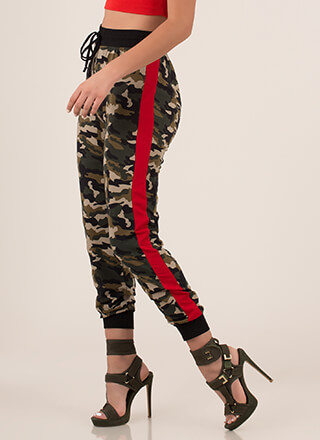 Now You See Me Striped Camo Joggers