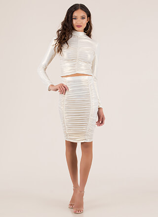 Shirring Is Caring Ruched 2-Piece Dress