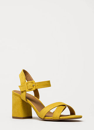 Capsule Collection Strappy Block Heels