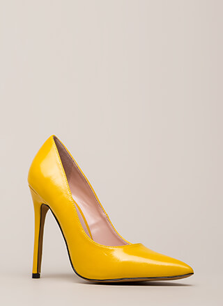So Essential Pointy Faux Leather Pumps