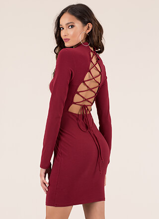 Quick Turnaround Lace-Back Dress