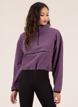 Apex Fleecy Zip-Front Sweatshirt