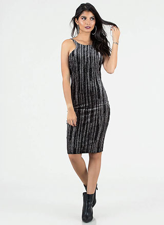 Glittery Nights Strappy Velvet Dress
