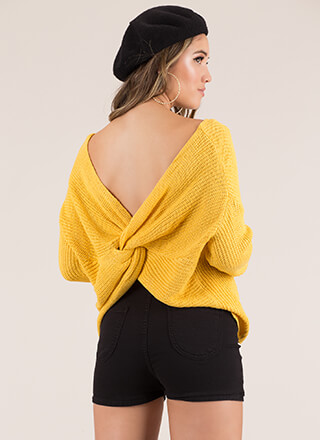 Twists And Turns Knotted Knit Sweater