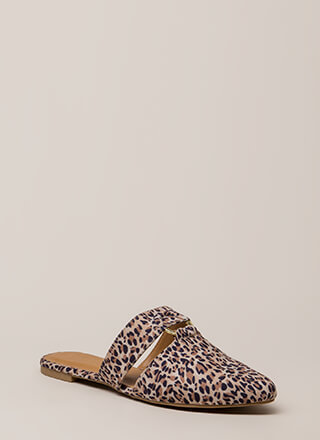 Ring In The New Leopard Mule Flats