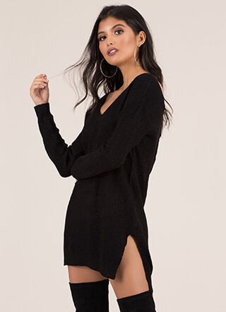 Strappy Endings Caged Back Sweater