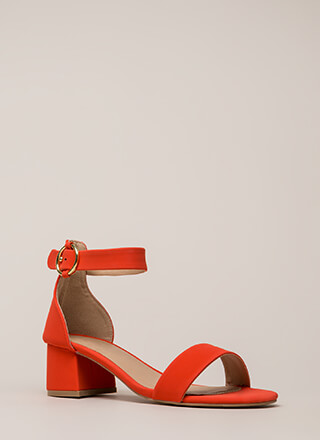 Push It Faux Nubuck Block Heels