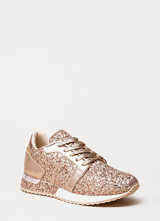 Flash Forward Glittery Sneakers