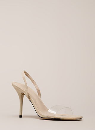 Clear And Present Slingback Heels