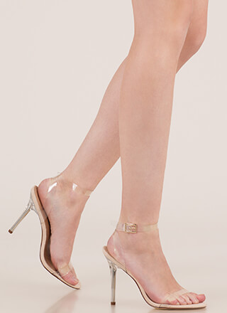 See Right Thru You Clear Strap Heels