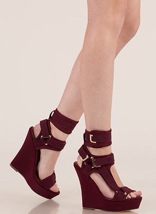 Band Mate Caged Platform Wedges