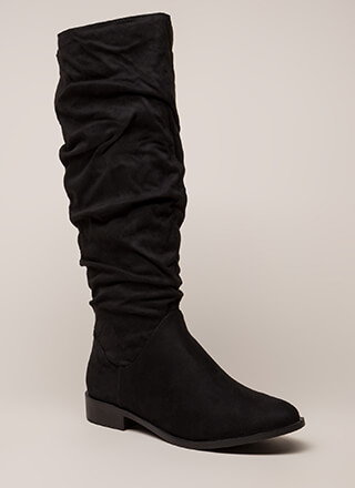 You're Slouching Faux Suede Boots