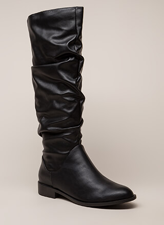 You're Slouching Faux Leather Boots