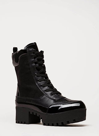 More Power To You Platform Combat Boots