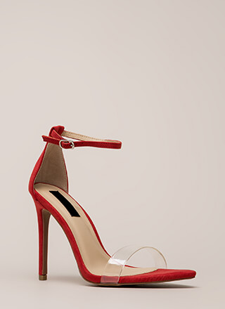 Clearly Flawless Ankle Strap Heels
