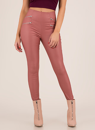 Perfect 4 You Zippered Moto Skinny Pants