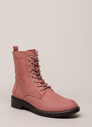 Added Incentive Trimmed Combat Boots