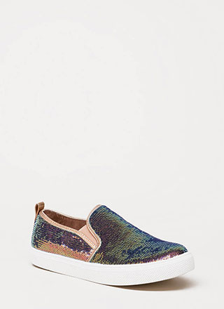 Staying In Sequins Slip-On Sneakers