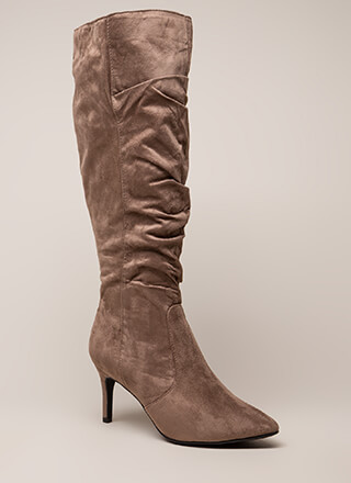 919687d05b6 Long For Slouchy Faux Suede Boots