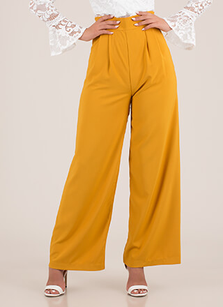 Wide Or Why Not Pleated Palazzo Pants