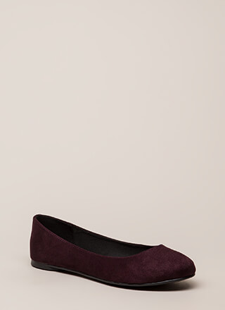 Everyday Life Vegan Suede Ballet Flats