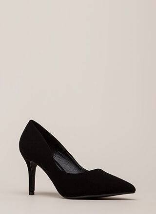 Point Of View Faux Nubuck Pumps