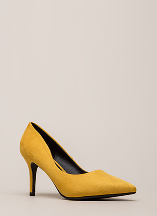 Point Of View Faux Suede Pumps