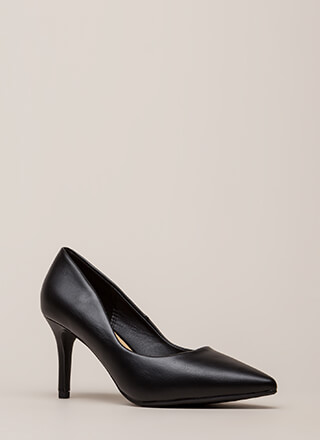 Point Of View Faux Leather Pumps