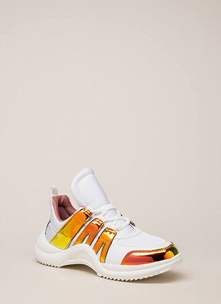 Tongue In Chic Paneled Sneakers