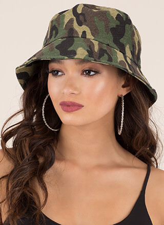 Camo Is Calling Denim Bucket Hat