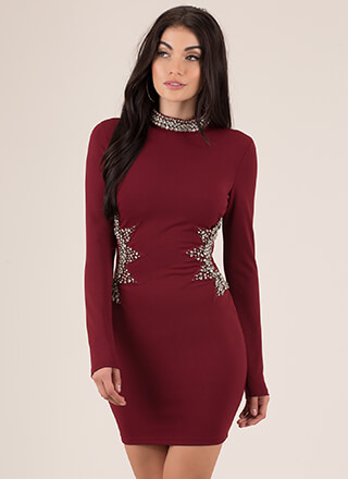 Unforgettable Night Jeweled Minidress