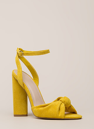 Knot And Say Yes Chunky Peep-Toe Heels