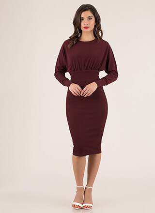 Can't Tie Me Down Dolman Midi Dress