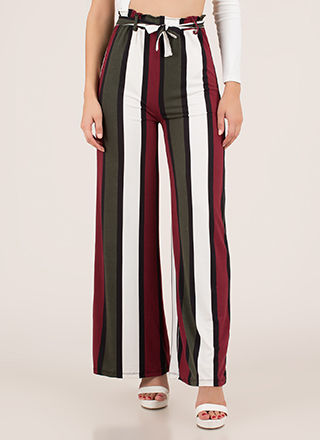 Oh Wide Not Striped Palazzo Pants