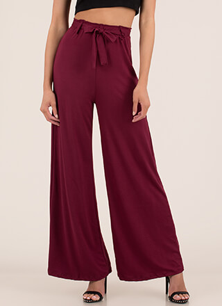 Oh Wide Not Tied Palazzo Pants
