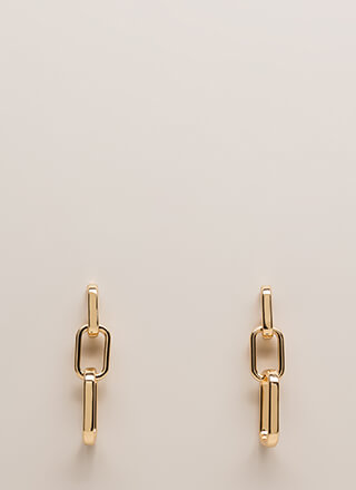 Feel A Connection Chain Link Earrings